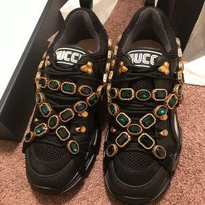 Mens Gucci Flashtrek Leather Sneaker